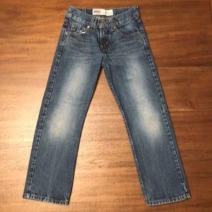 LEVI STRAUS 514. Slim Straight. Boys Size 8.